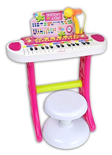 Bontempi- Tastiera, Multicolore, 13 3672