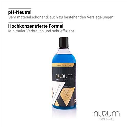 Aurum-Performance® Autoshampoo - pH-neutrales und Hochkonzentriertes Auto Shampoo mit exzellenter Reinigungskraft und Schaumbildung (pureActive Shampoo, 750ml)