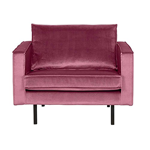 Pharao24 Lounge Sessel in Pink Samtbezug