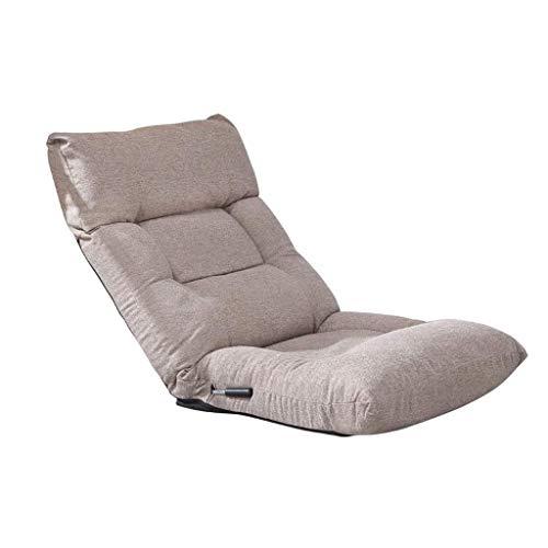 NXYJD Sofá Perezoso, Tatami Plegable Individual pequeño sofá Dormitorio Balcón Asiento de atrás, algodón Lino