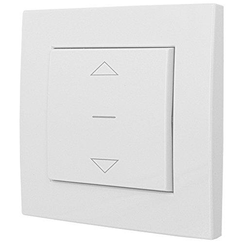 PROHEIM Rolladenschalter für Rolladen und Jalousien Auf/Ab Unterputz 230 V/AC Schalter in Weiß RAL 9003