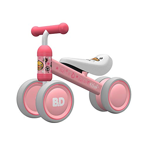 YGJT Baby Balance Bike for 1 Year Old Baby Ride on Toys Baby Walker Push Bike First Gift for 10 months -2 Years Old Boys Girls (Pink duck)