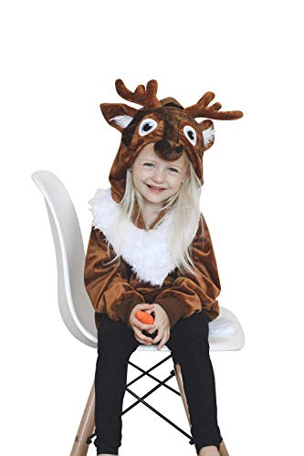 ComfyCamper Reindeer Costume for Girls Boys and Kids, 6-8 Years
