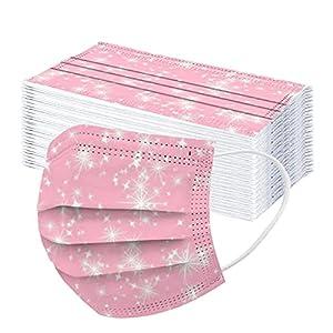DerberDis 50 Pezzi Bambini Tintura per cravatta USA e Getta 3 Strati Protezione Per il Viso con Arcobaleno Colorate Antipolvere Tessuto Viso Cotone Antipolvere Visiera Bocca Faccia Adatto