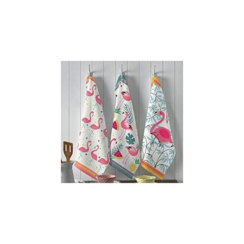 Jogo Pano de Prato Flamingo (3 peças) | Teka - Primore