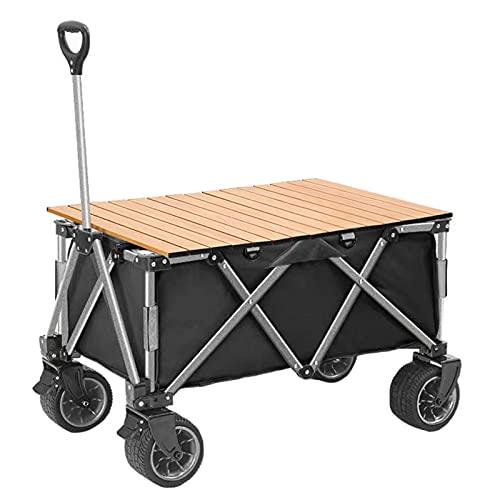 Garden Trolley Draagbare Reistrolley Met Tafelbord, Kampeerwagen Met Capaciteit Van 120 Kg, Afneembare En Wasbare Oxford…