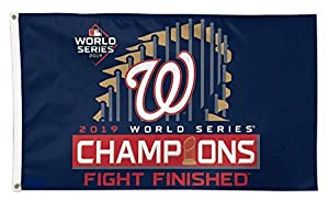 Washington Nationals 2019 World Series Champions Double Sided Flags (Fight Finished)
