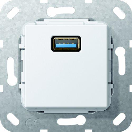 Gira 568203 USB 3.0 A Gender Changer Einsatz, reinweiß