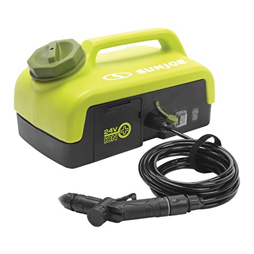 Sun Joe 24V-PSW25 Portable Spray Washer w/ 2.5 Gal Tank, Kit (w/2.0-Ah Battery + Quick Charger)