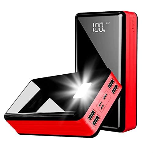 YOUR SUN Power Bank, 80000 MAH Power Bank Portátil PowerBank Compatible Xiaomi/Samsung/iPhone Poverbank Teléfono móvil Cargador rápido de Alta Capacidad (Color : Red)