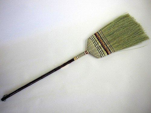 最高級手編み 座敷箒 長柄 13玉 日光箒 毛の量が多くなっています。昔ながらの座敷ほうき(長柄草ホーキ) ほーき*5本までが1甲口扱いです*