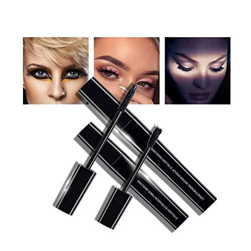 3D Seidenfaser Wimpern Mascara Set, Wimpernverlängerung Wasserdicht Volumizing Mascara Wasserdicht...