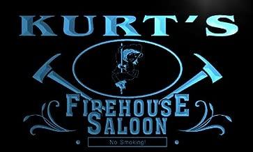 ADVPRO x0024-tm Jason's Firehouse Saloon Firefighter Fire Dept Personalized Neon Sign