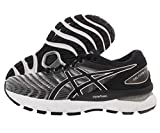 ASICS Women's Gel-Nimbus 22 Running Shoes, 8.5M, White/Black