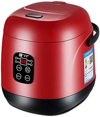 Cuisine Dortoir cuisine 1.2L Mini Rice Cooker numérique multi-Cooker intérieur Pot Cuit-vapeur portable pour soupe porridge de riz étuvé alimentaire 2020,Rouge