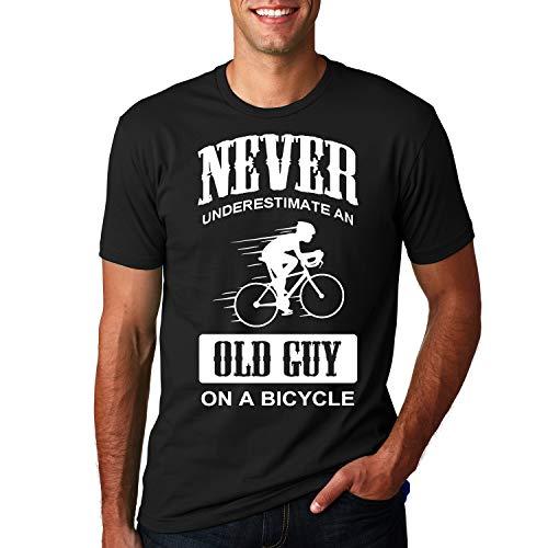 Maglietta da uomo, magliette divertenti da uomo in cotone nero, magliette girocollo novità Magliette sportive a maniche corte casual Magliette da ciclismo