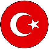 Decoración para tarta con diseño de bandera de Turquía, redondo, círculo de 20 cm, cumpleaños, fiesta, celebración, evento