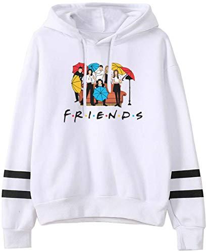 FLYCHEN Hombre Sudaderas con Capucha de Friends Suéter con Capucha Divertido Series de televisión Americanas TV Amigos