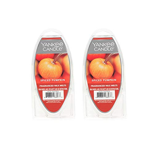 Yankee Candle Lot of 2 Spiced Pumpkin Fragranced Wax Melts