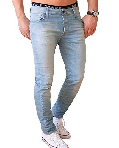 JACK & JONES Herren Jeans Tim 799 in Hellblau (28W/32L, Blau (Blue Denim))