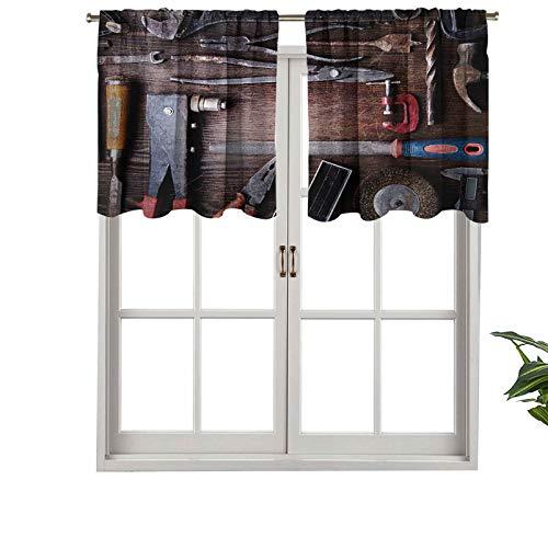 Hiiiman Kit de herramientas mecánicas de polvo obsoleto colección de herramientas mecánicas, juego de 1, 132 x 45,7 cm, paneles opacos decorativos para el hogar para la cocina