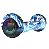 UNI-SUN Hoverboard for Kids, 6.5' Two Wheel Electric Scooter, Self Balancing Hoverboard with LED Lights for Adults, UL 2272 Certified Hover Board (BT Camo Blue)