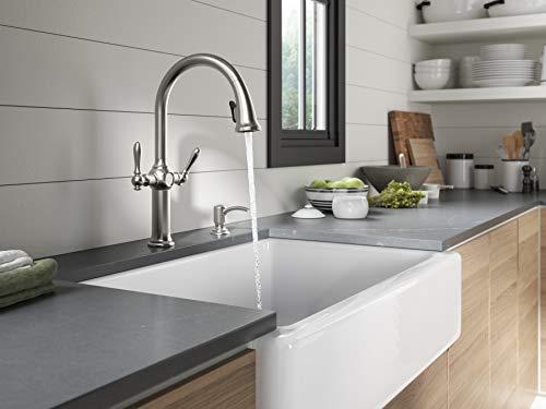 KOHLER K-R24937-SD-VS Neuhaus Kitchen Sink Faucet, Vibrant Stainless