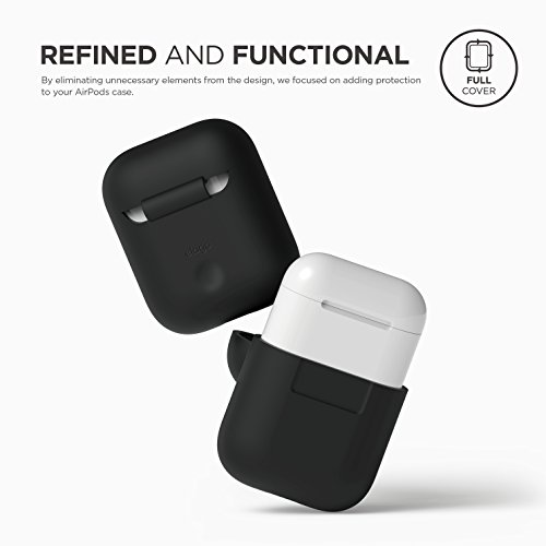 elago AirPods Silicone Case Designed for Apple Airpods Case 2 & 1  - Black