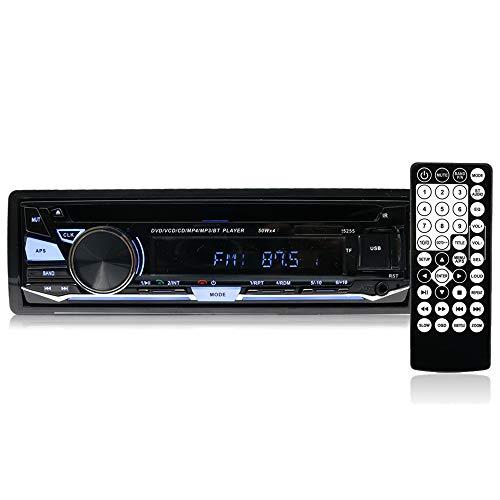 Hengweili, lettore stereo auto, 1 DIN, 12V, con unità CD/ DVD/ Bluetooth /radio/MP3 / USB / SD / AUX / FM