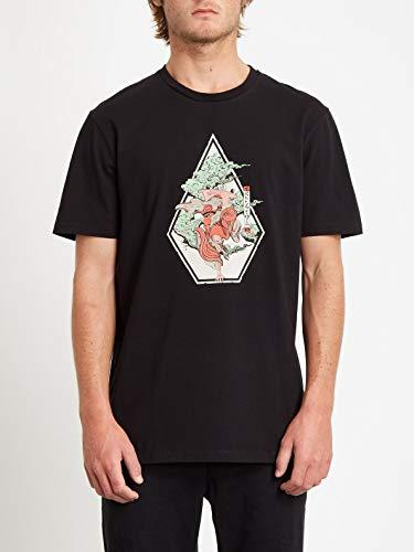 Volcom Herren Nozaka Skate SS Kurzärmeliges T-Shirt, Schwarz, L