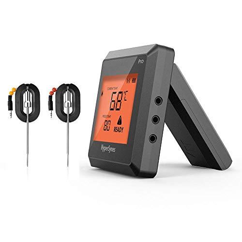 ZHB Smart Bluetooth Digital Kitchen Cooking Termómetro de Acero Inoxidable para Alimentos para cocinar BBQ Grill Ahumador Horno Hornear Leche Yogur Temperature.etc