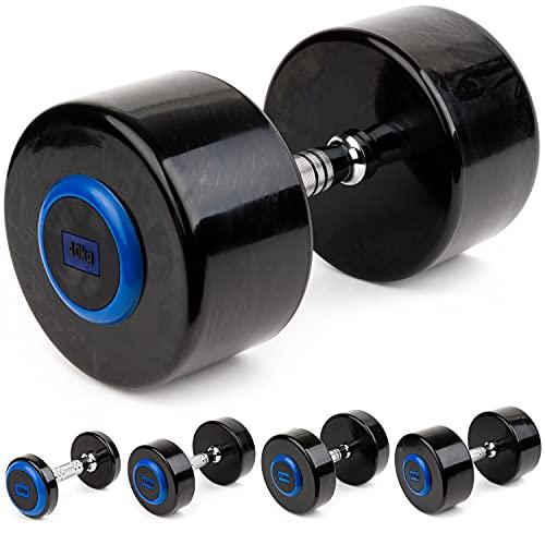 Sport-Thieme Kompakthantel PU   In 16 verschiedenen Gewichtsklassen: 2-40 kg   Gerändelter Griff   Kratz- und stoßunempfindlich   Fitness, Kraftsport, Gewichte   Markenqualität