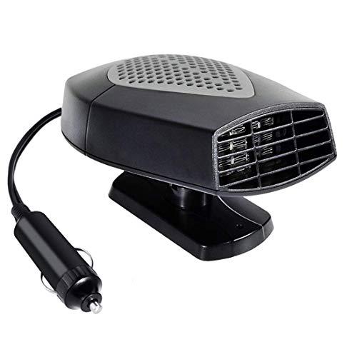 Gyj&mmm Auto Heater Defroster 12V Tragbarer Heizlüfter für Auto-Windschutzscheibe Demister Windschutzscheibe Heckscheibenheizung Heizung Lüfter