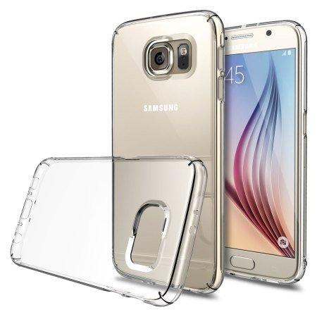 COPHONE® Funda para Samsung Galaxy S6 Funda Silicona Transparente de Silicona Antideslizante. Transparente Carcasa Galaxy S6 Fino y Discreto. Alta protección
