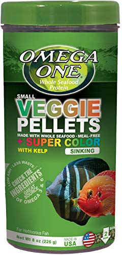 Omega One Super Color Veggie 2mm Sinking Pellets with Kelp, 8 oz Container