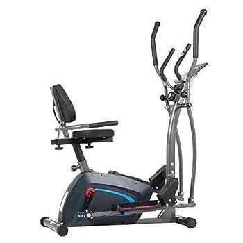 Body Champ 3-in-1 Exercise Machine Trio Trainer Elliptical and Upright Recumbent Bike