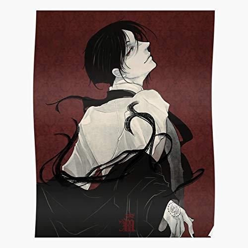 nastygal Michaelis Red Anime Sebastian Butler Manga Demon Black Das eindrucksvollste und stilvollste Poster für Innendekoration, das derzeit erhältlich ist