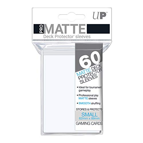 Ultra Pro 84022 UP Pro Matte Small Sleeves, White, 62x89