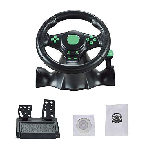 NGHXZ Jeu de Course de Volant, Vibra USB de l'ordinateur, 360 Direction, pour Xbox 360 / PS3 / P2 / PC