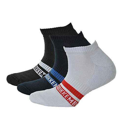 BIKKEMBERGS Packung mit 3 Paar Lange Strümpfe Sneakers Socke Herren Tripack Artikel BCC1110