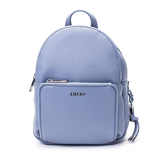 Liu Jo Borsa zaino mod. Fluida Backpack in ecopelle azzurro nuvola BS20LJ25