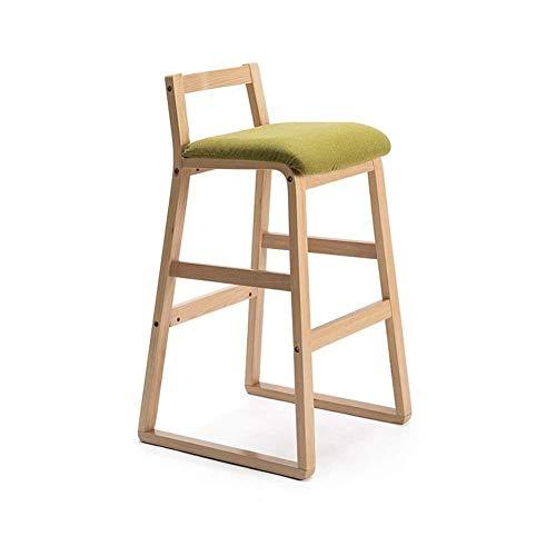 ZCXBHD Fashion barkruk barkruk massief houten barkruk voor woonkamer/kleedkamer/keuken/wastafel, C