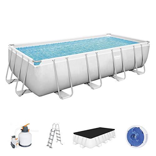 Bestway Power Steel Framepool Komplett-Set Pool, grau, 549 x 274 x 122 cm