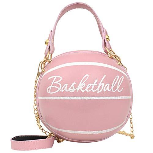 AoAo Bolso niña  para de asas redondo del rosa del del baloncesto de la muchacha linda