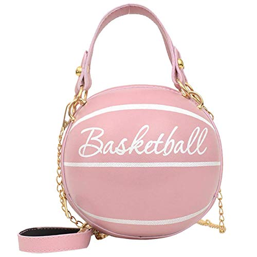 AoAo Bolso niña, bolso para niña bolso de asas redondo del rosa del bolso del baloncesto de la muchacha linda