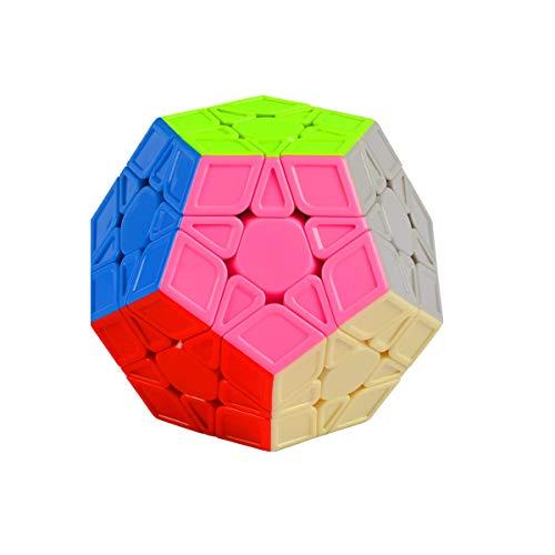Cooja Megaminx Cubo Magico de Velocidad, Speed Cube Smooth Magic Cube Puzzle Dodecaedro Durable Regalo de Juguetes para Niños Niñas