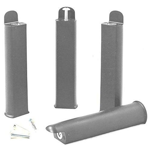 AltoBuy PLAST - Jeu de 4 Pieds 22 cm Gris pour Cadre à Lattes