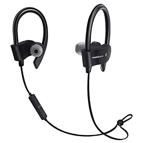 FREESOLO 56S Sports Wireless Bluetooth Earphone with Mic for Music and Calling, Black