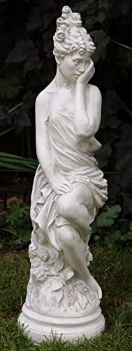 OM Deko Garten Figur Statue Frau Gracia Klassische Skulptur Gartenfigur aus Kunststoff Höhe 68 cm