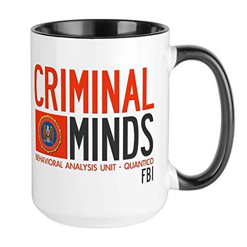 Criminal Minds FBI BAU Taza de café grande, taza grande de café con leche de 11 oz